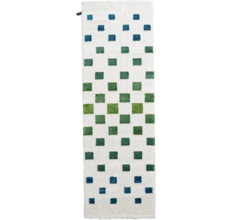100cm x 300cm Abstract Shag Runner Rug