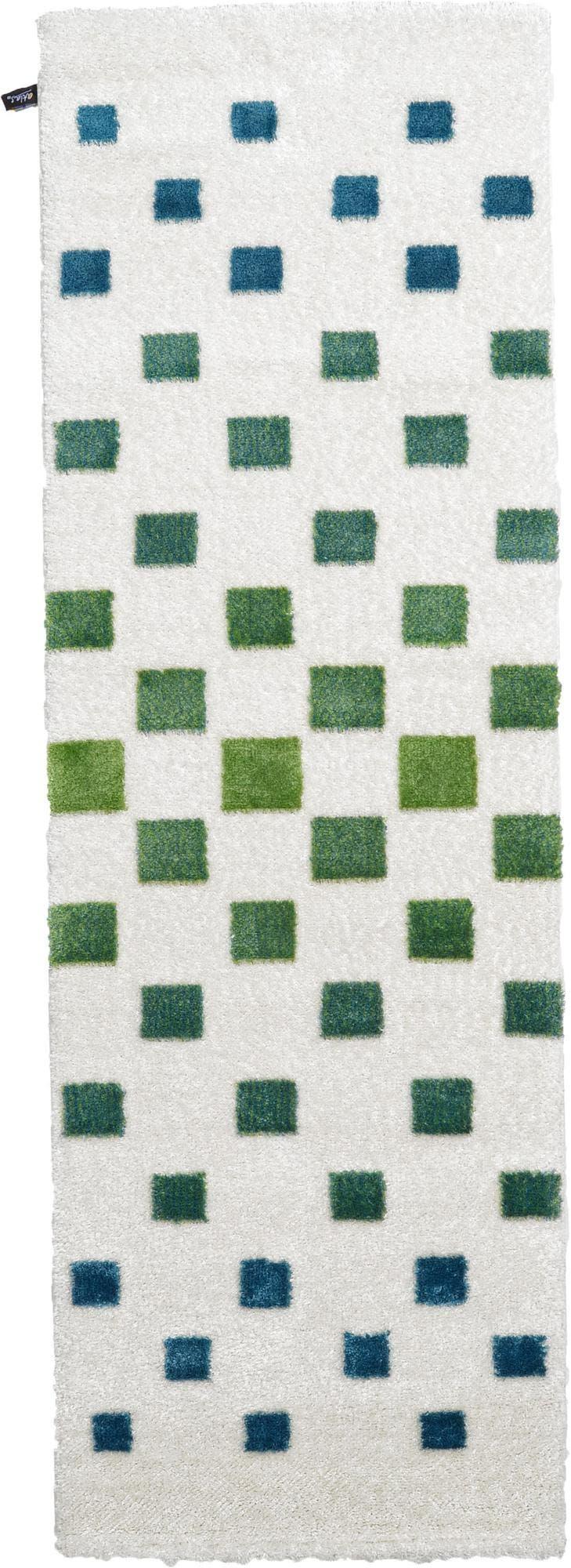 3' 3 x 9' 10 Abstract Shag Runner Rug main image