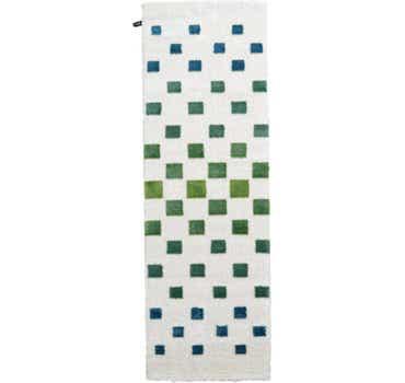 Image of 3' 3 x 9' 10 Abstract Shag Runner Rug
