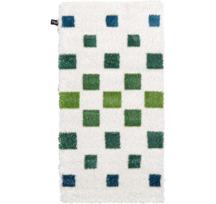 2' 7 x 5' Abstract Shag Rug