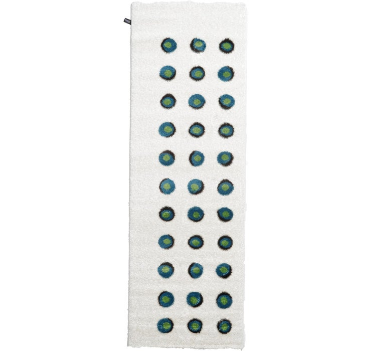Image of 100cm x 300cm Abstract Shag Runner Rug