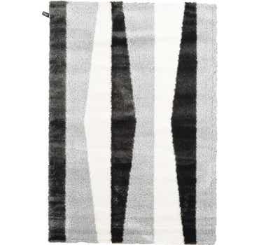 5' 3 x 7' 7 Abstract Shag Rug