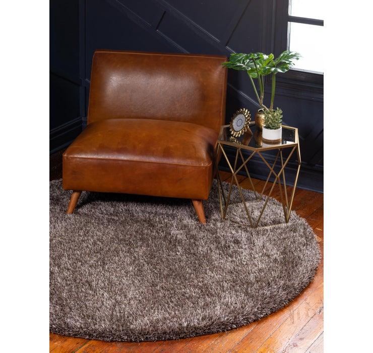 245cm x 245cm Luxe Solid Shag Round Rug