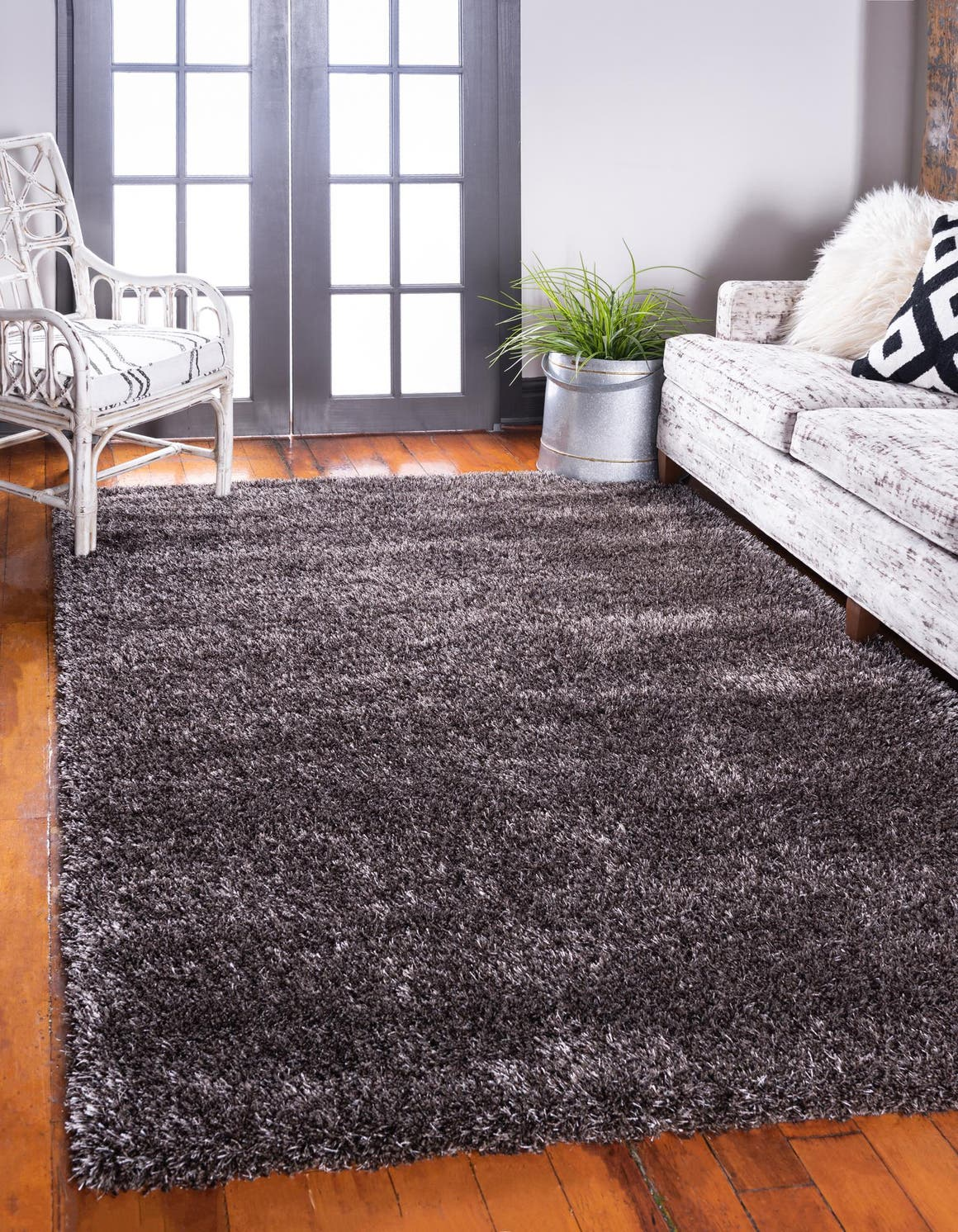 5' x 8' Luxe Solid Shag Rug main image