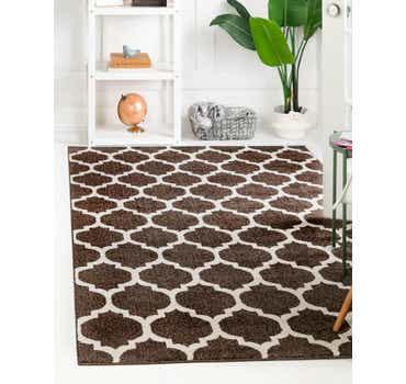 Image of  Chocolate Brown Lattice Rug