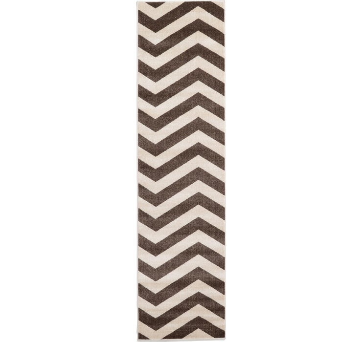 Image of 80cm x 305cm Chevron Runner Rug