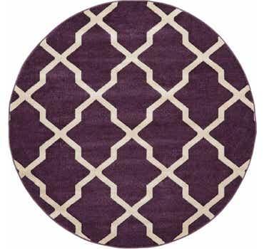Dark Violet Lattice Round Rug