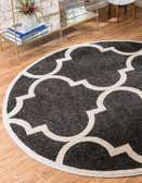 3' 3 x 3' 3 Lattice Round Rug thumbnail