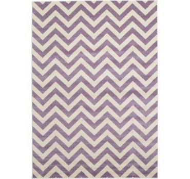 Purple 7' x 10' Chevron Rug | iRugs UK