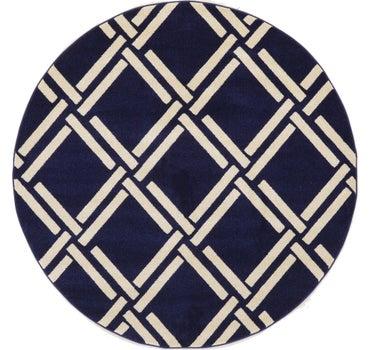 6' x 6' Trellis Round Rug main image