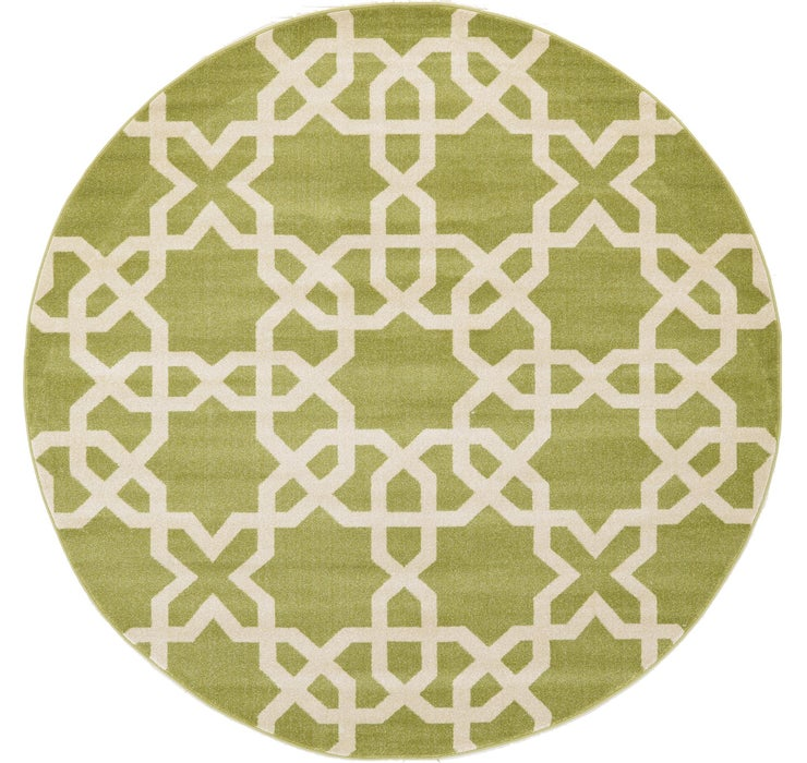 8' x 8' Lattice Round Rug