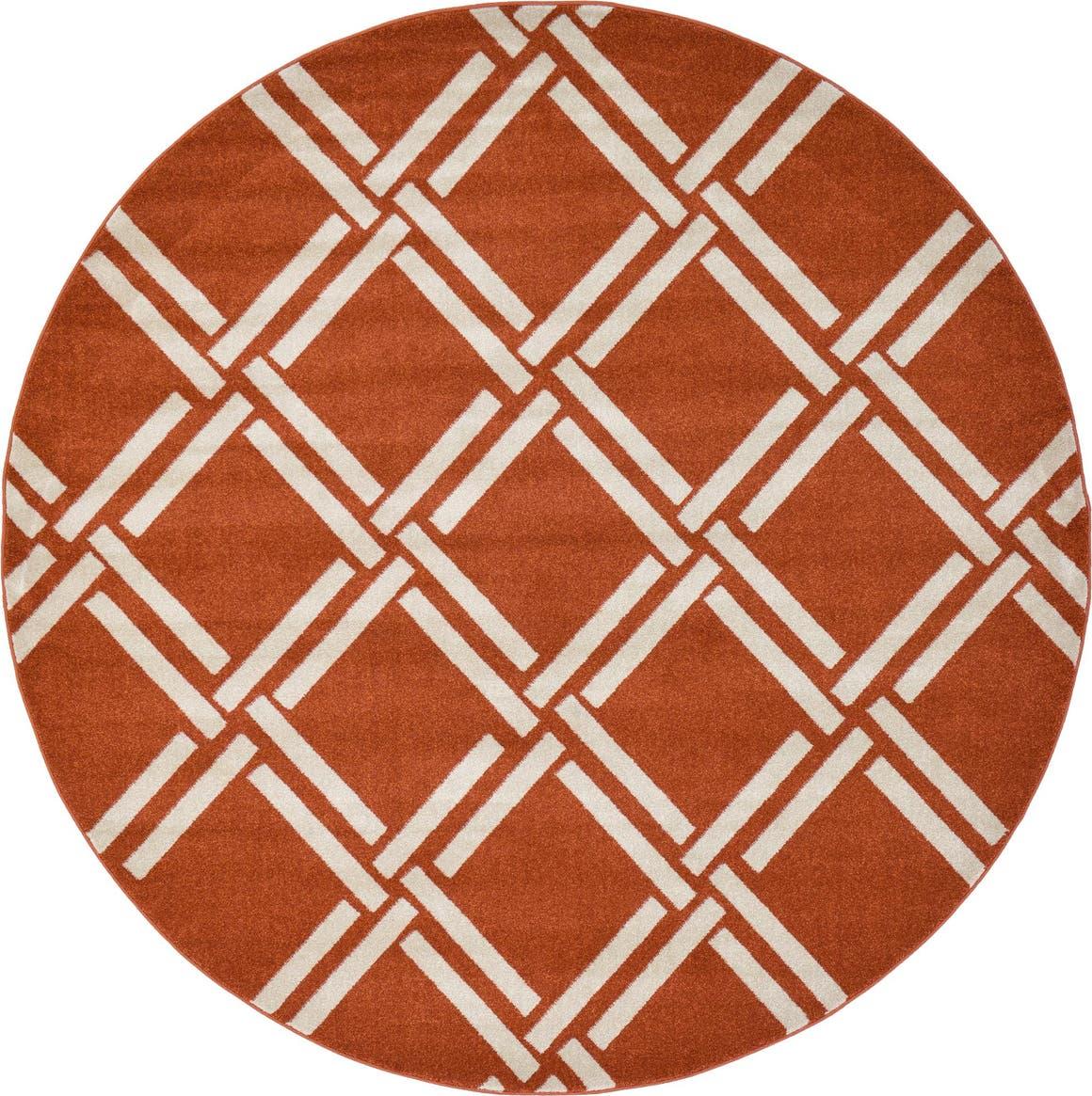 8' x 8' Trellis Round Rug main image