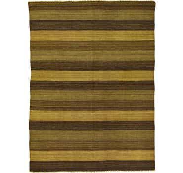 Brown Kilim Afghan Rug