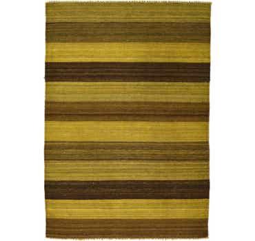 Image of 3' 5 x 4' 10 Kilim Afghan Rug