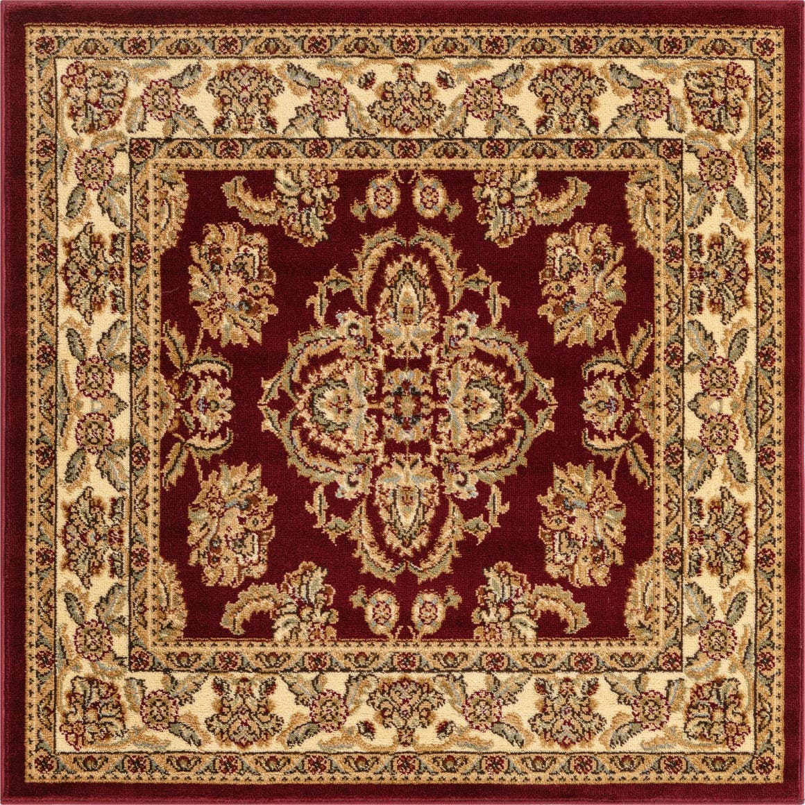 Red  4' x 4' Classic Agra Square