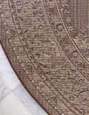 8' x 8' Mashad Design Round Rug thumbnail