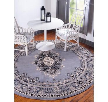 8' x 8' Mashad Design Round Rug main image