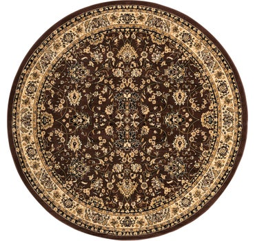 8' x 8' Kashan Design Round Rug main image