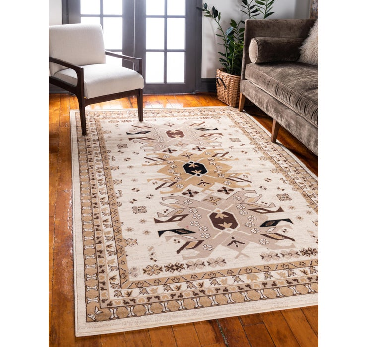Image of 65cm x 95cm Heriz Design Rug
