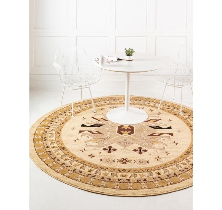 245cm x 245cm Heriz Design Round Rug