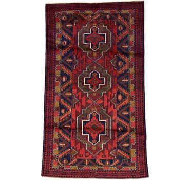 Image of 3' 9 x 6' 2 Balouch Persian Rug