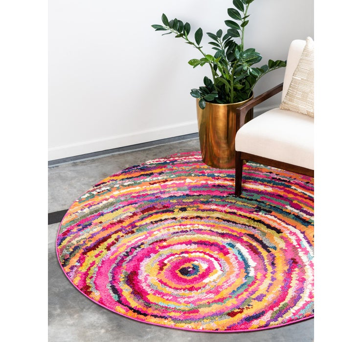 6' x 6' Hyacinth Round Rug
