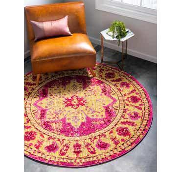 Image of  Pink Fleur Round Rug