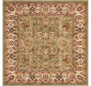 Image of  Light Green Aditi Square Rug