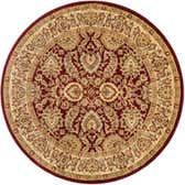 7' 10 x 7' 10 Classic Agra Round Rug thumbnail