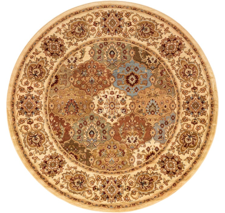 8' x 8' Classic Agra Round Rug