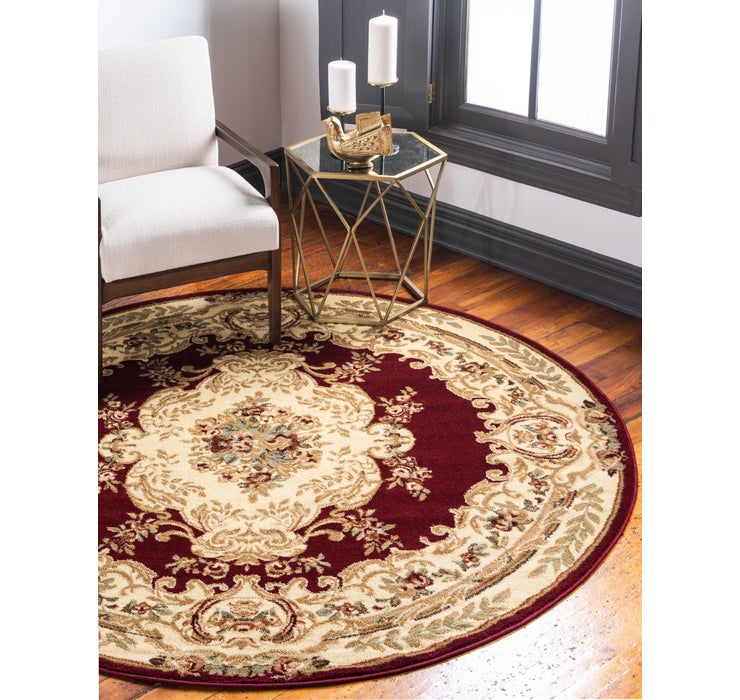 Red Chateau Round Rug