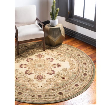 8' x 8' Classic Aubusson Round Rug main image
