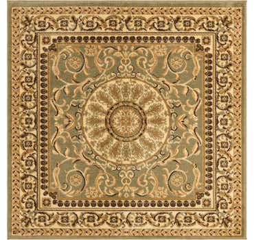 Image of  Light Green Chateau Square Rug
