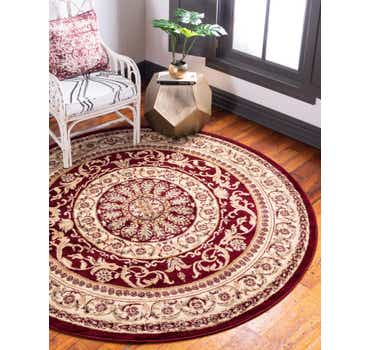 Image of  Red Chateau Round Rug