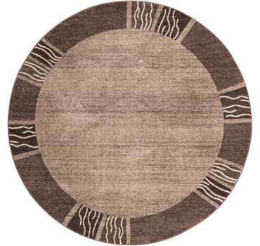 Image of  Light Brown Angelica Round Rug