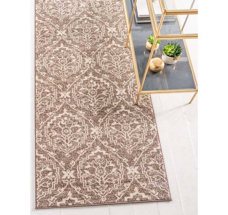 Image of 2' 7 x 10' Damask Runner Rug