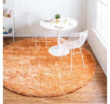 Image of 8' x 8' Luxe Solid Shag Round Rug
