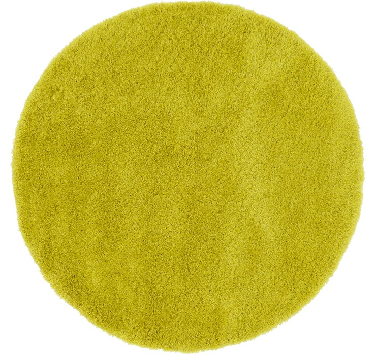 6' x 6' Luxe Solid Shag Round Rug