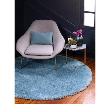 8' x 8' Luxe Solid Shag Round Rug main image