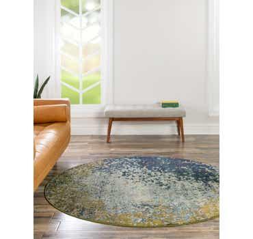 Image of  Blue Hyacinth Round Rug
