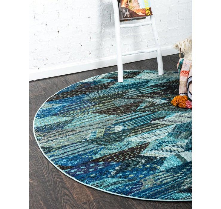 Blue Mesa Round Rug