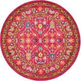 6' x 6' Fleur Round Rug thumbnail
