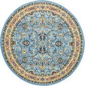 8' x 8' Kashan Design Round Rug thumbnail