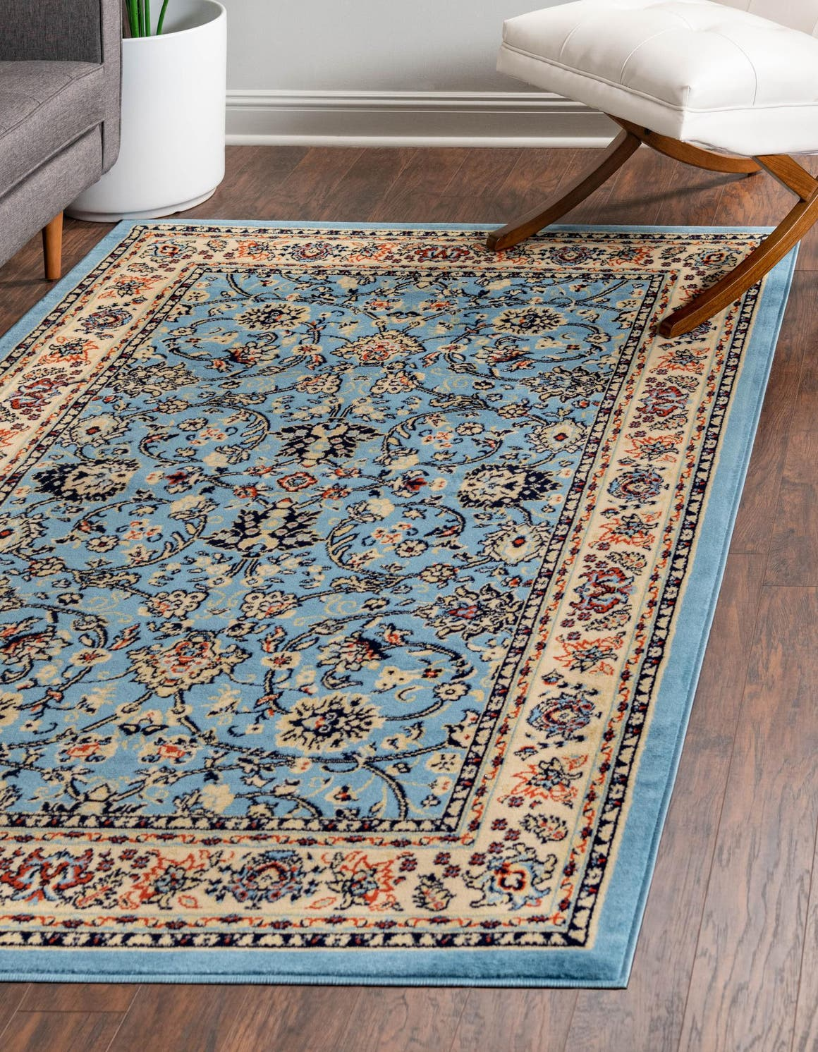 Light Blue 5 X 8 Yasmin Rug Rugs Com