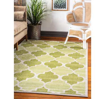 Image of  Green Lattice Rug