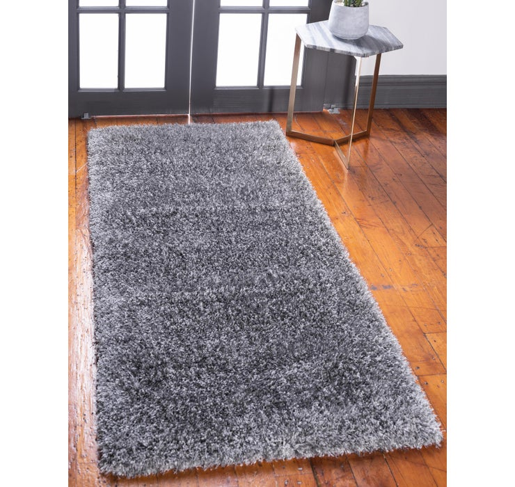 Image of 2' 7 x 10' Luxe Solid Shag Runner ...