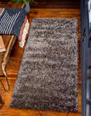 2' 7 x 6' Luxe Solid Shag Runner Rug thumbnail