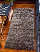 2' 7 x 6' Luxe Solid Shag Runner Rug thumbnail