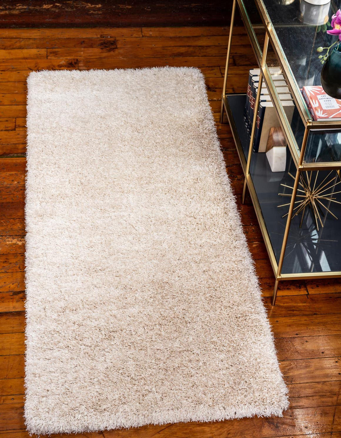 2' 7 x 6' Luxe Solid Shag Runner Rug main image