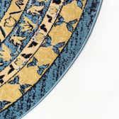 8' x 8' Heriz Design Round Rug thumbnail